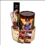 Coffee Lover s Gourmet Coffee Gift Basket with a French Press Coffee Maker and Mugs.