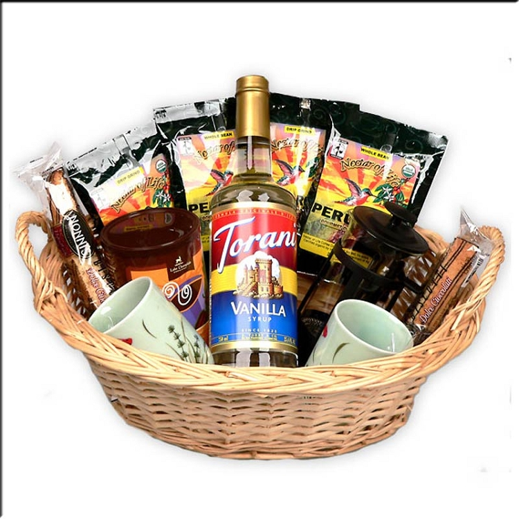 Coffee Lover S Gourmet Coffee Gift Basket With A French