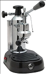 La Pavoni Europiccola Manual Espresso Machine with Black Base