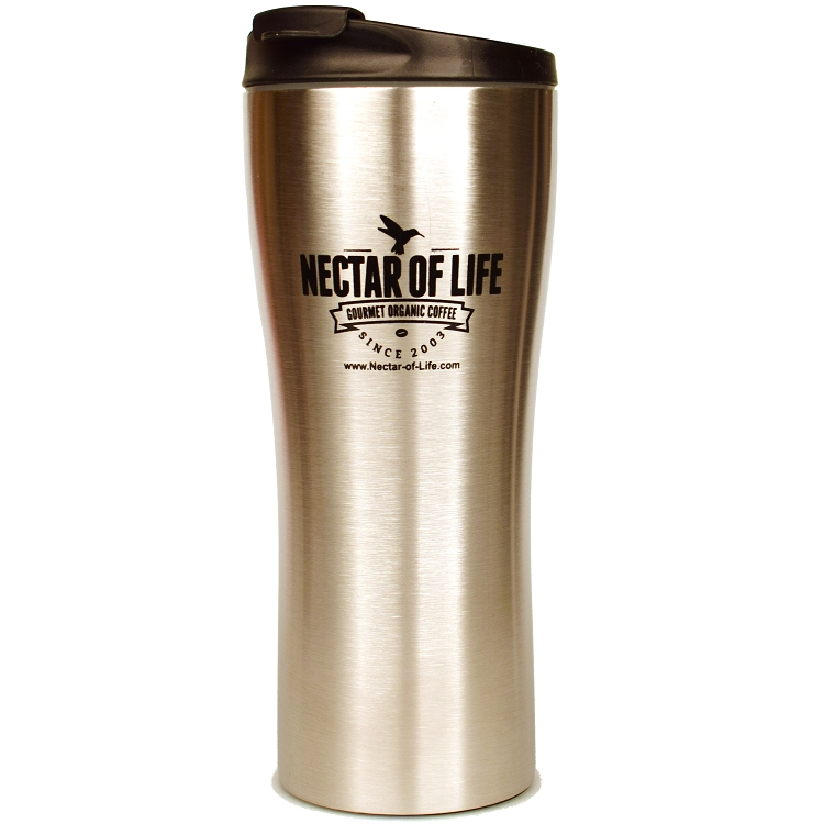 double walled large stainless steel travel coffee mug. Black Bedroom Furniture Sets. Home Design Ideas