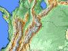 Satellite Map of Ocamonte Colombian Coffee Growing Region