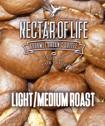 Light and Medium Roast Organic Fair Trade Coffees