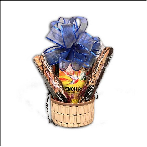Small Gourmet Coffee Gift Basket with Biscotti