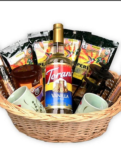 Coffee Lover's French Press Gift Basket